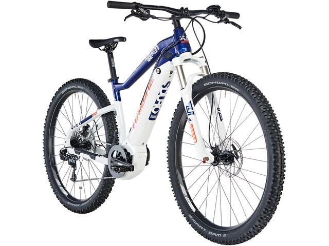 HAIBIKE SDURO HardNine 5.0 E-mountainbike blå/hvid (2019)   MTB